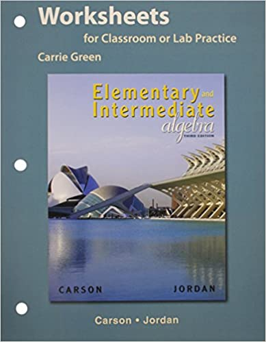 Worksheets for Elementary and Intermediate Algebra Plus MyMathLab ...