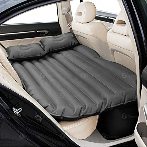 Car Travel Inflatable Air Mattress Back Seat - Zone Tech Premium Quality Car Bed Back Seat Inflatable Air Mattress with 2 Air Pillows