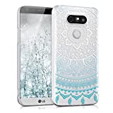 kwmobile Crystal Case for LG G5 / G5 SE with Design Indian sun - transparent Protection Case Cover clear in blue white transparent