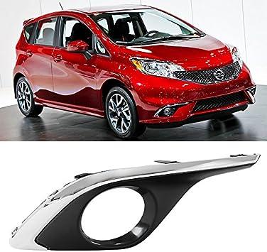 DRL Cover Bezels Left Side for Nissan Versa Note 14-16 Chrome Fog Light Hole