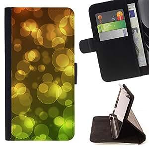 For Sony Xperia Z5 (5.2 Inch) / Xperia Z5 Dual (Not for Z5 Premium 5.5 Inch) Case , Anillo Circular Oro Verde- la tarjeta de Crédito Slots PU Funda de cuero Monedero caso cubierta de piel