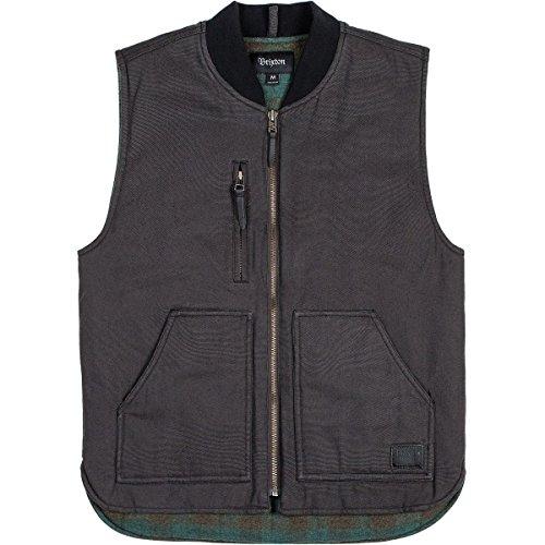 Brixton Men's Abraham Vest, Charcoal, S by Brixton