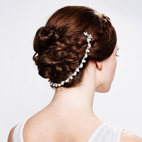 Pearl Hair Chain by Untamed Bridal