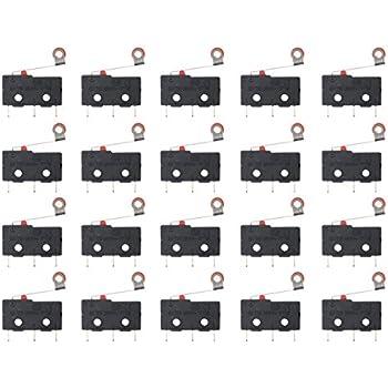 WGCD 20 PCS AC 125V 5A Micro Limit Mini Switch SPDT 3 Pin