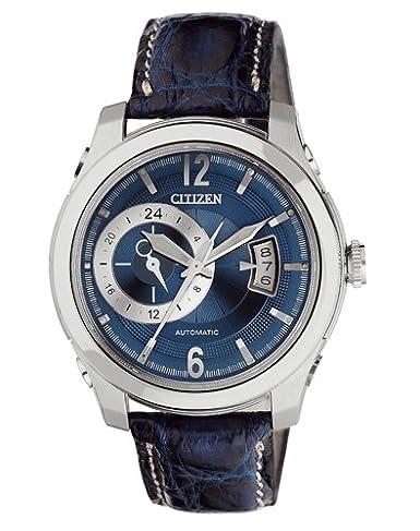 Citizen Meccanico NP3010-34L - Reloj analógico automático para Hombre, Correa de Cuero Color Azul: Amazon.es: Relojes