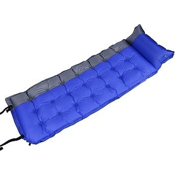 Saco de dormir al aire libre automático hinchable dormir almohadilla para picnic camping integrado 190T nailon revestido Spinning, azul: Amazon.es: Deportes ...