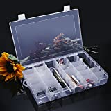 Gospire 36 Grids Clear Plastic Jewelry Box