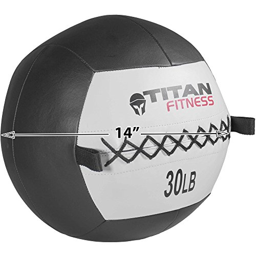 Titan 30 lb Wall Medicine Ball Core Workout Cardio Muscle Exercises Strength WOD