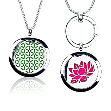 Necklaces & Pendants Health & Beauty 25mm Locket Essential Oil Aroma Perfume Diffuser Pendant Keychain Keyrings 5 Pad To Prevent And Cure Diseases
