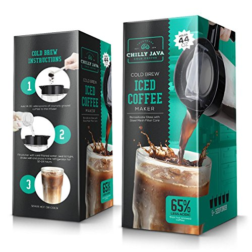 Chilly Java Cold Brew Glass Coffee Maker Pitcher, Over 1 Quart Capacity (5+ Servings) by Chilly Java (Image #7)