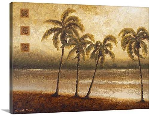 Tropical Escape I Canvas Wall Art Print