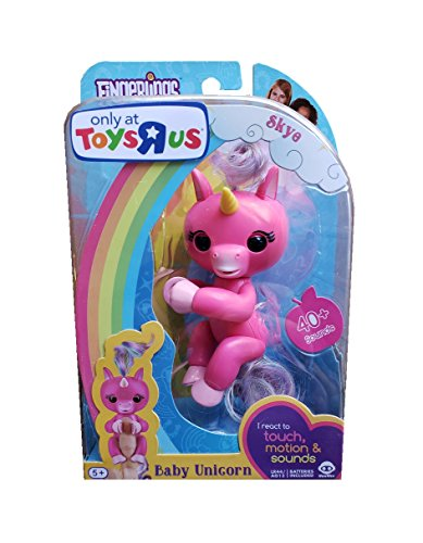 WowWee Fingerlings - Skye the Baby Unicorn (Pink) - Toy R Us Exclusive