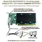 Epic IT Service - Quadro NVS 300 PCI-E x 16 (half size bracket, DMS-59 to dual DVI adapter)