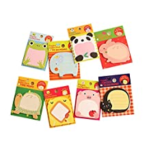 Set of 20 Creative Animal Paradise Sticky Note Funny Notepad, Random Style