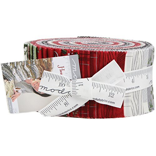 Hearthside Holiday by Deb Strain Roll 40 2.5-inch Strips for Moda Fabrics, 19830JR (Fabric Cotton Quilt Holidays)