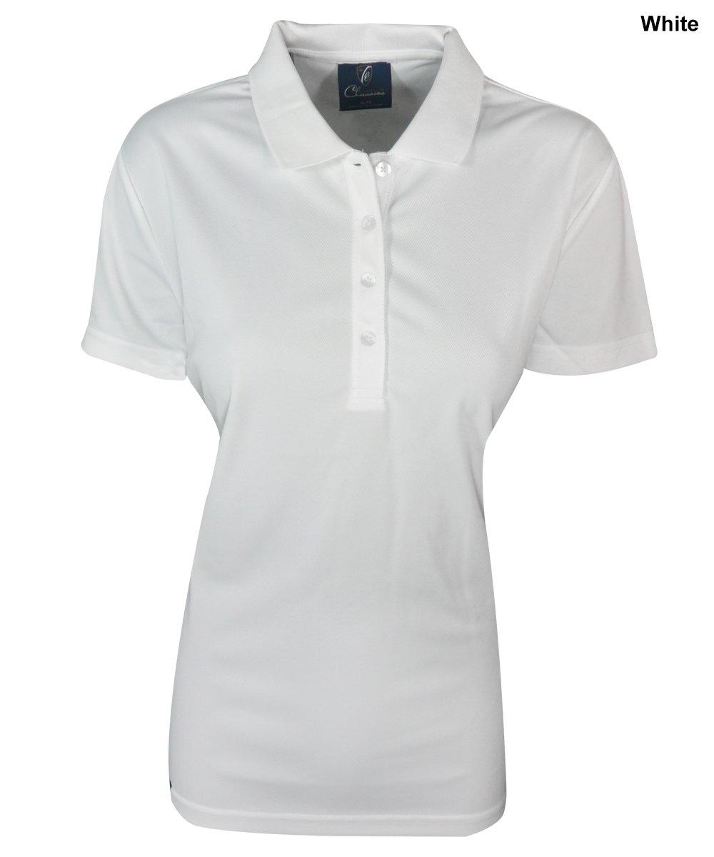 ClevelandゴルフレディースFoundationポロ2 x lホワイト   B00QSAADC6