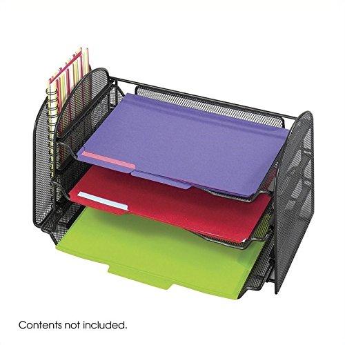 Scranton & Co Black Mesh Desk Organizer by Scranton & Co