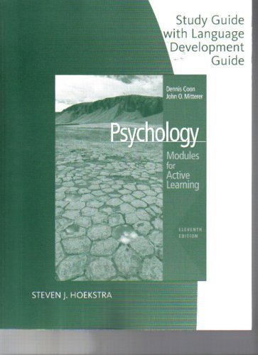 Study Guide with Language Development Guide for Coon/Mitterer's  Psychology: Modules for Active Learning with Concept Mo