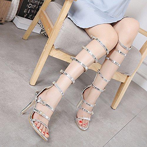 Cm Night D't Sexy Romaines Creux Pompe Talon 11 Slive Club Chaussures Mode Ximu Sandales De Aiguille wnUA064Pq