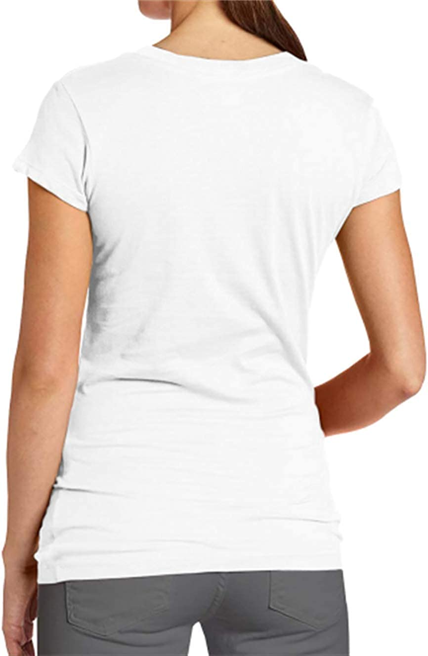 HIPGCC Womens Fashion T Shirt Print with Girls Dont Like Boys Girls Like Aliens White Short Sleeve