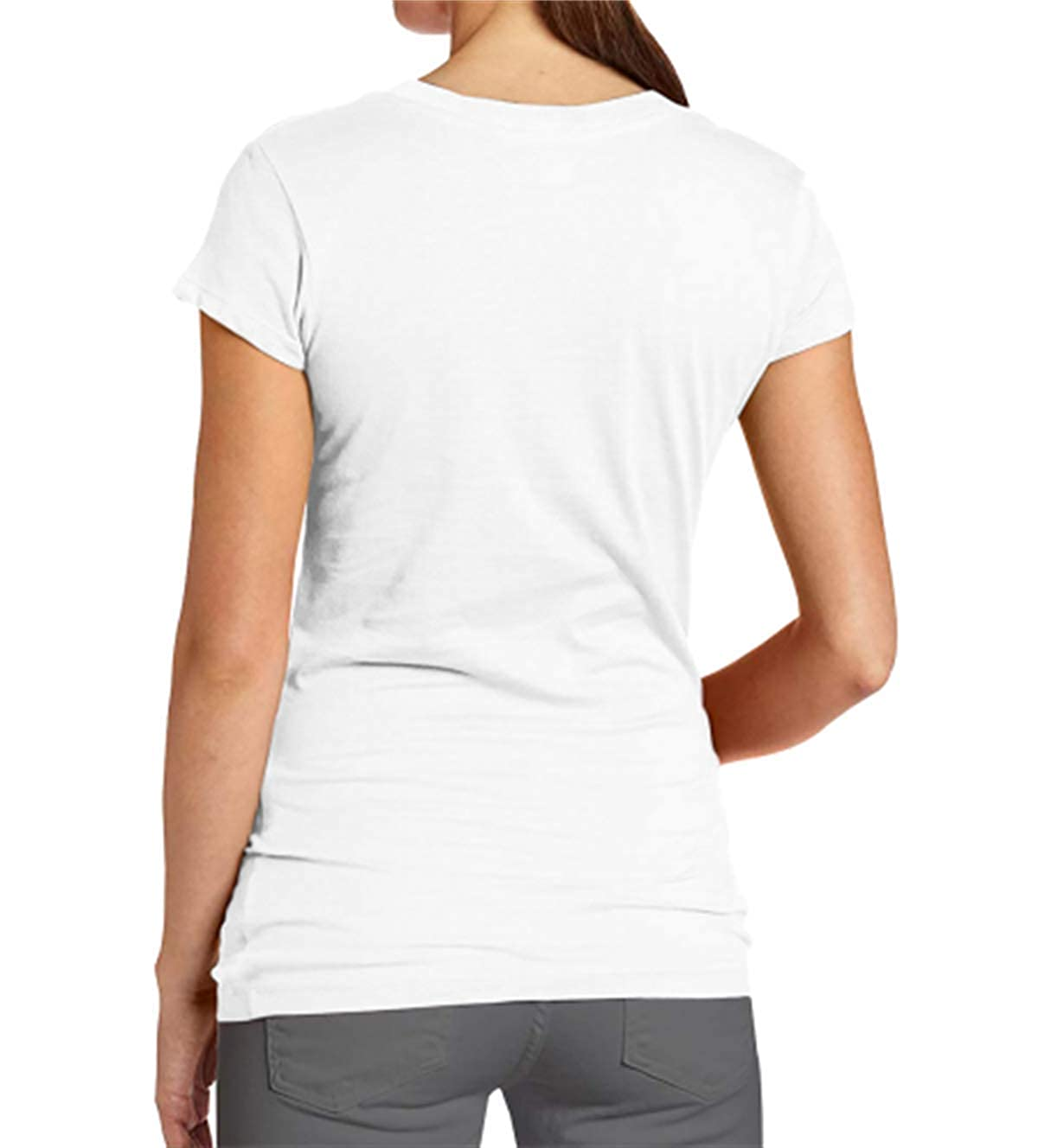 HIPGCC Womens Comfortable T-Shirt Print with Roseanne Chicken White Short Sleeve