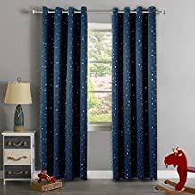 H.Versailtex Cute Star War Pattern Ultra Sleep Energy Saving Thermal Insulated Blackout Curtains for Boy's Room,Grommet Window Drapes for Winter,52 by 96 - Inch,Set of 1 Panel