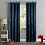 Boys Curtains H.Versailtex Cute Star War Pattern Ultra Sleep Energy Saving Thermal Insulated Blackout Curtains for Boy's Room, Grommet Window Drapes for Spring /Summer, 52 by 96 - Inch, 1 Panel