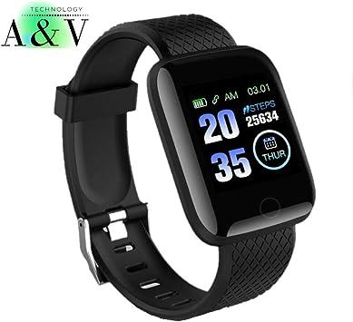 España Smartwatch, Reloj Inteligente con Pulsómetro Mujer Hombre Niños, Monitor de Sueño, Reloj de Fitness para iOS y Android Xiaomi Huawei Samsung: Amazon.es: Electrónica
