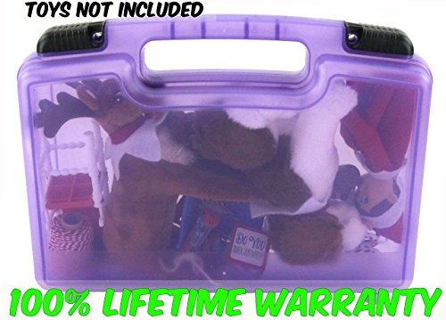 Life Made Better Toy Storage Organizer - Compatible With Elf On The Shelf Toys And Accessories - Durable Carrying Case- Purple