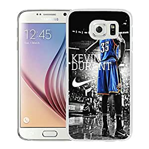 Beautiful Designed Case With Oklahoma City Thunder Kevin Durant 3 White For Samsung Galaxy S6 Phone Case
