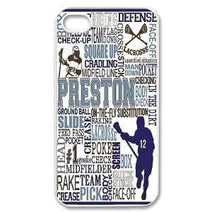 Custom Lacrosse Iphone 4,4S Phone Case, Lacrosse DIY Cell Phone Case for iPhone 4, iPhone 4s at Lzzcase