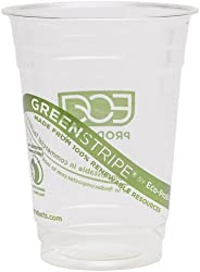Eco-Products EP-CC16-GS GreenStripe Renewable & Compostable Cold Cups, 16 oz, (Case of 1000)