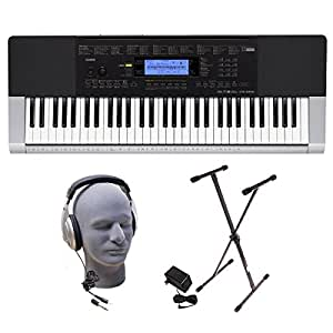 Casio Inc. CTK4400 PPK 61-Key Premium Keyboard Pack with Headphones, Power Supply and Stand