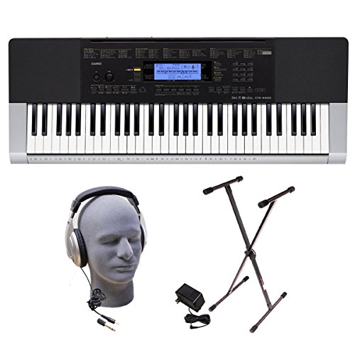 Casio Inc. CTK4400 PPK 61-Key Premium Keyboard Pack with Hea