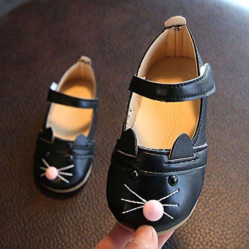 IGEMY Kinder Baby Mädchen Mode Prinzessin Cat Dance Nubukleder Schuhe, So süß für Ihren Schatz Schwarz