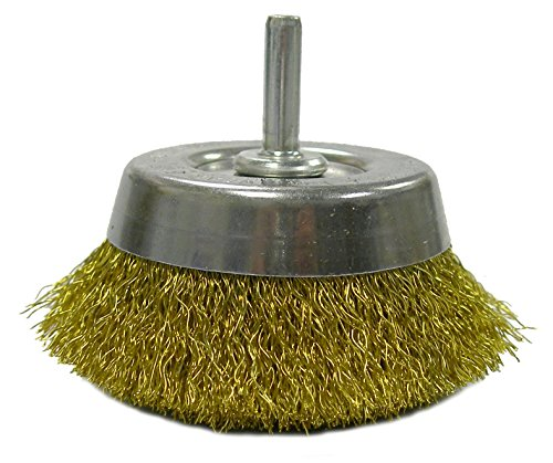 Brush Wheel Brass - Weiler 14311 Crimped Wire Utility Cup Brush, 2-3/4