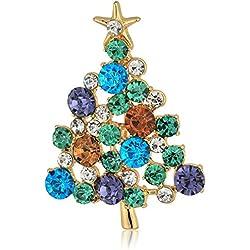 Gold Tone Christmas Tree Slide Pendant