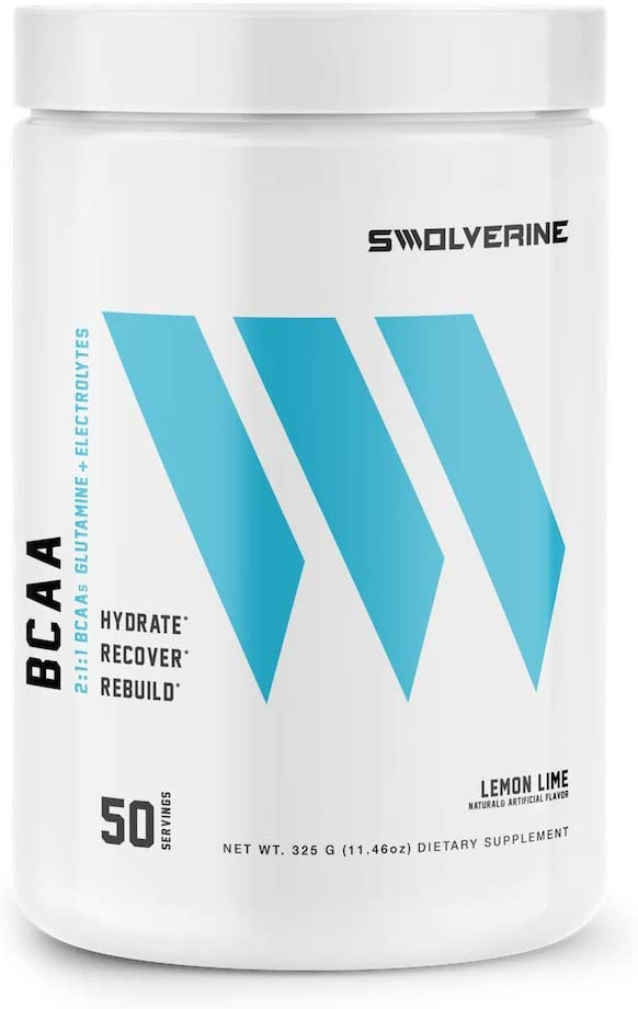 BCAA 2 1 1 Branched Chain Amino Acids, Electrolytes, L-Glutamine, Hydration Recovery Formula, Lemon-Lime 50 Servings