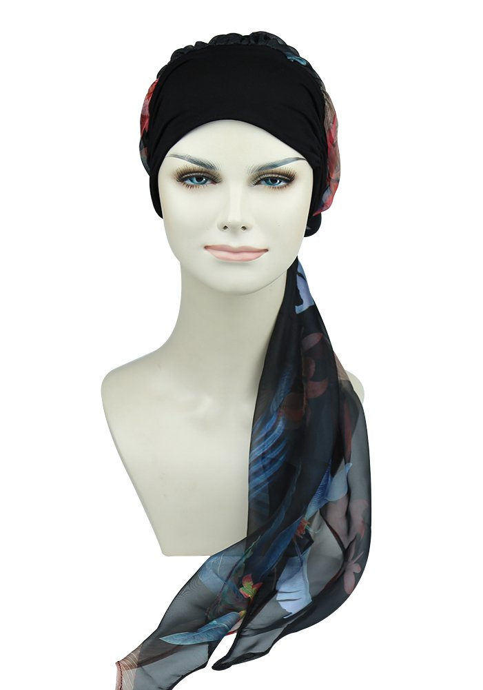 Chemo Scarves With Cap Snug Turbans For Cancer Women Bamboo Hats Alopecia Beanie Summer