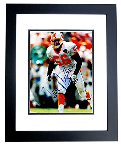 (Hardy Nickerson Signed - Autographed Tampa Bay Buccaneers - Tampa Bay Bucs 8x10 inch Photo BLACK CUSTOM FRAME - Guaranteed to pass PSA or JSA)