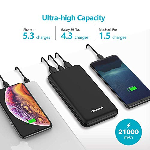 45W USB C Power Bank Power Delivery, 21000mAh PD Portable Charger with Quick Charge 3.0 Type C Battery Pack Compatible with USB-C Laptops, MacBook Pro, iPad Pro, MacBook Air, Nintendo Switch by Charmast (Image #2)