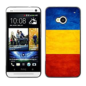 YOYO Slim PC / Aluminium Case Cover Armor Shell Portection //Romania Grunge Flag //HTC One M7