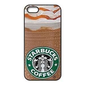 iphone5 5s phone case Black for starbucks - EERT3405540