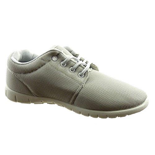 Sopily - damen Mode Schuhe Sneaker - Grau
