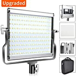 FOSITAN L4500 Dimmable Bi-color LED Video Light Kit with LCD Display, U Bracket Upgraded Video Light Panel Studio Lights 3200-5600K, CRI 96+ for Video Professional Shooting, Studio Photography