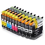 K-Ink Brother LC105 LC107 XL Compatible Replacement Ink Cartridges (10 Pack – 4 Black, 2 Cyan, 2 Magenta, 2 Yellow)