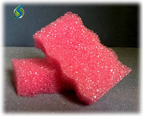 6 Pack Sponges - STRONGER and LARGER Than Scrub Daddy And Rinses Clean! Soft In Hot Water And Hard In Cold Water! Amazing Sponges Will Not Scratch Any Surface! Next Generation Sponges Made In USA!
