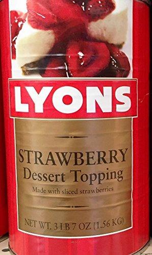3LB 7oz Lyons Strawberry Dessert Topping (Pack of 1)