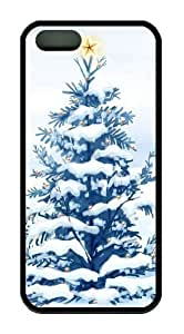 Christmas Snow Trees TPU Black water proof iphone 5S case for Apple iPhone 5/5S