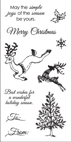 (Fiskars 3x6 Inch Clear Stamp, Holiday Frolic)